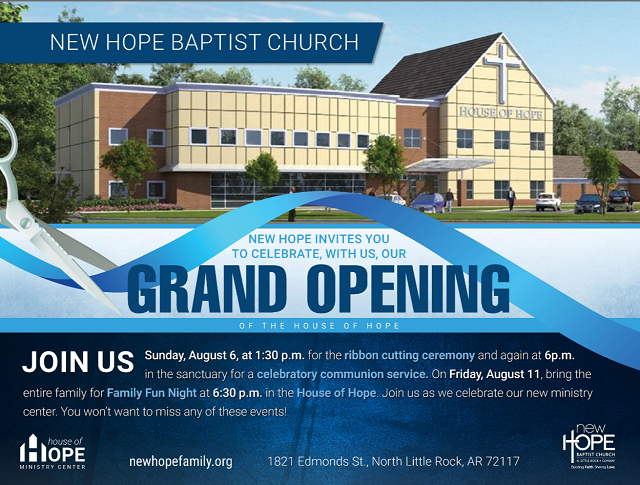 House Of Hope New Hope Baptist Church