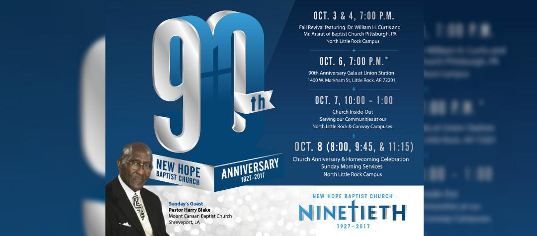 NHBC Ninetieth Church Anniversary- Oct 8