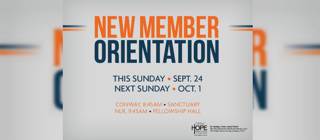 New Member Orientation- Nov 1