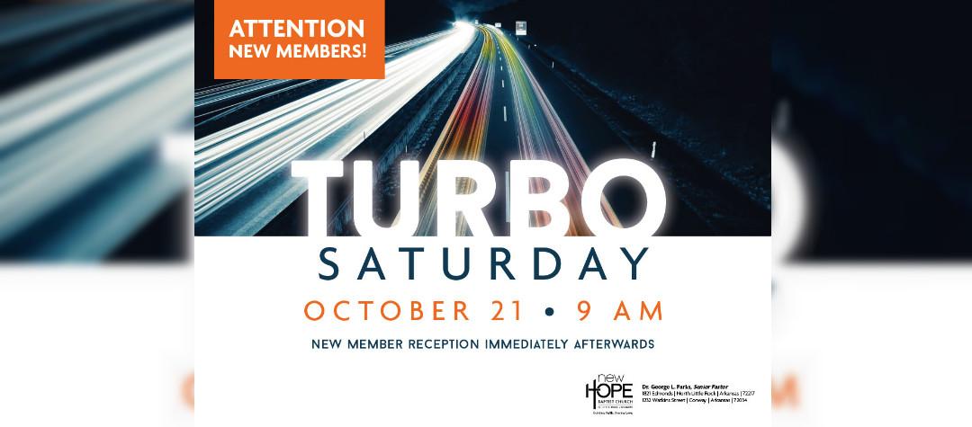 Turbo Saturday - Oct 21
