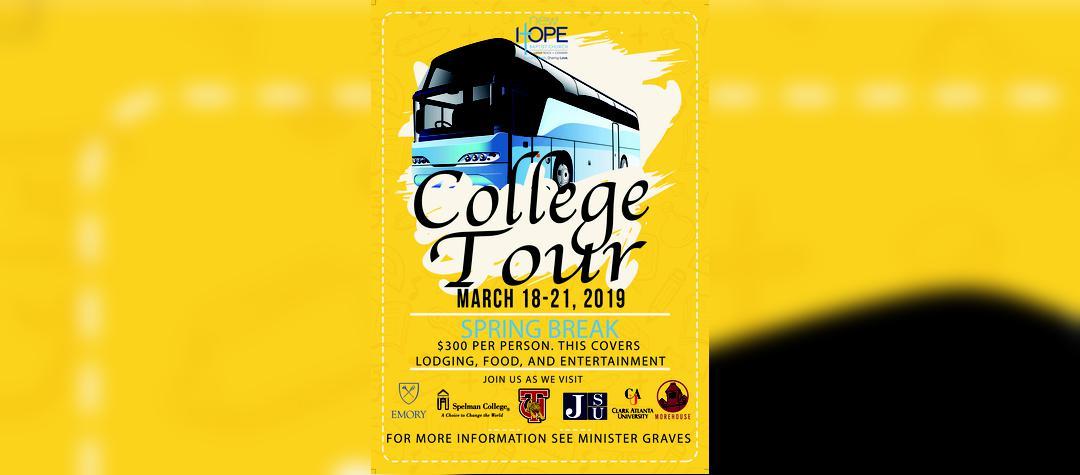 2019 Spring Break College Tour