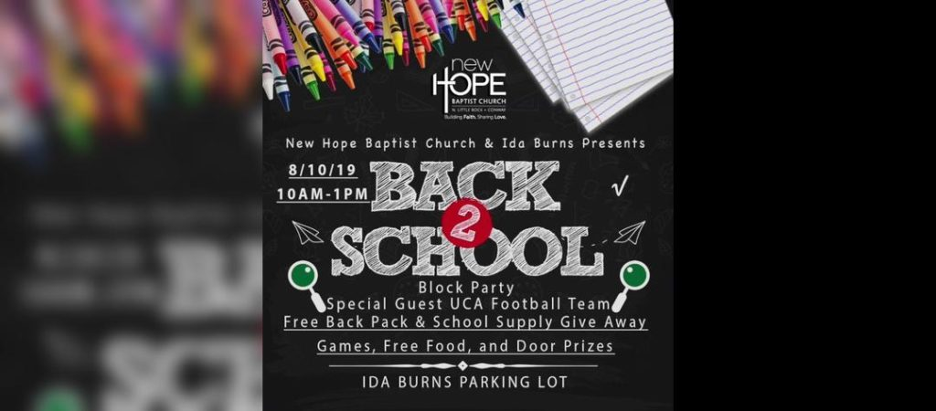 Back To School Block Party! @ Ida Burns Elementary