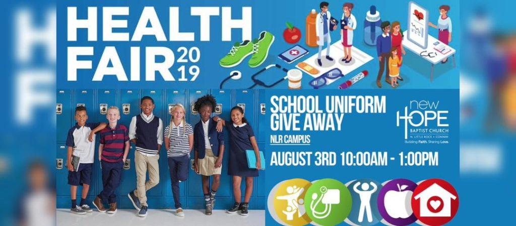 Health Fair & School Uniform Giveaway @ New Hope Baptist Church - NLR